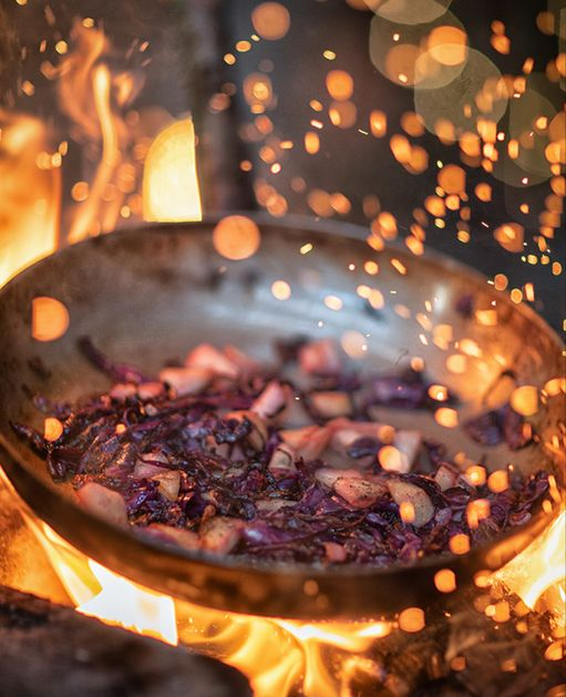 Smoked Ham Hock with Braised Red Cabbage