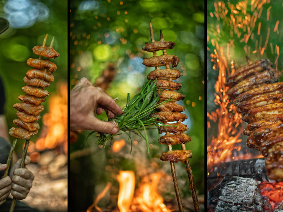 Making Primitive Chicken Wings - Back to The Nature